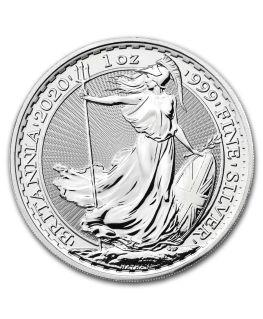 2020 Great Britain 1 oz Silver Britannia BU - Reverse