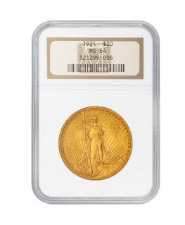 Buy $20 Saint-Gaudens Gold Double Eagle - MS-64 PCGS/NGC (Dates Our Choice)