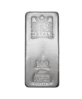 Buy 100 oz Republic Metals Silver Bars (.999)
