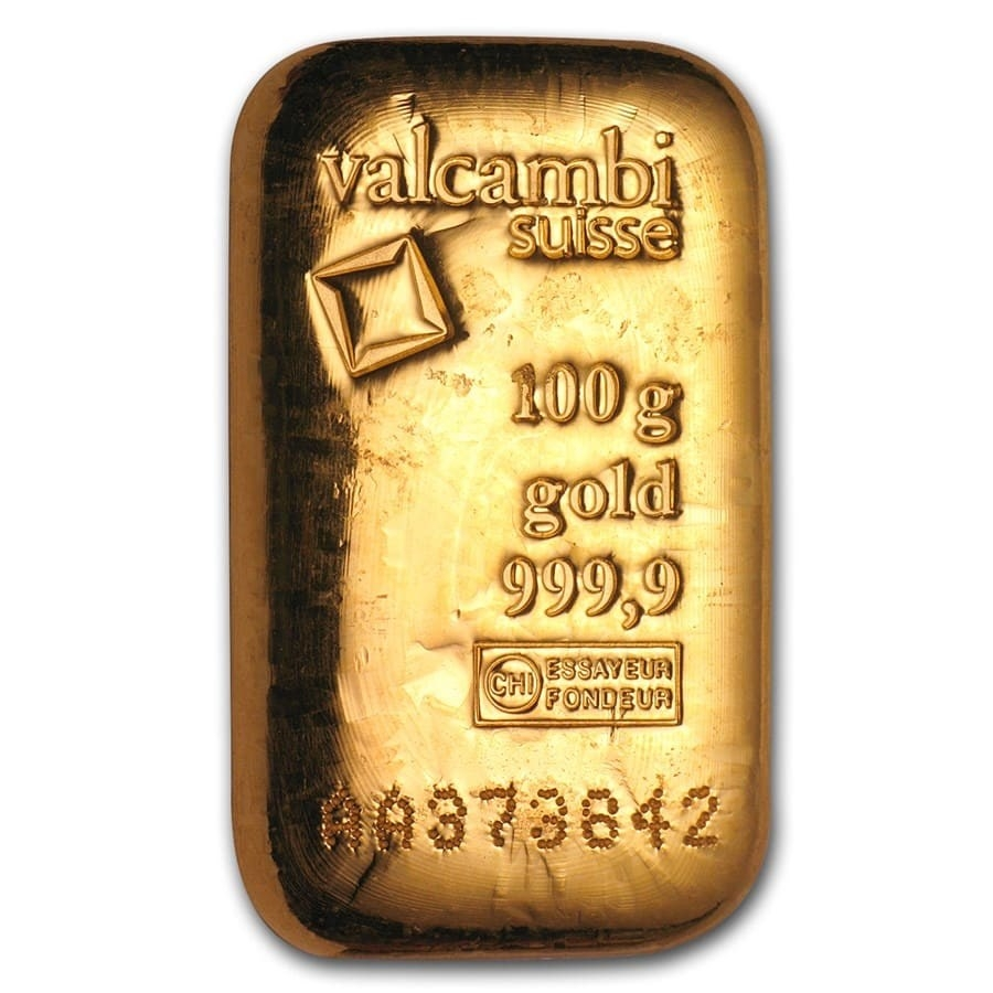 100 gram Gold Bar (Mint of Our Choice)