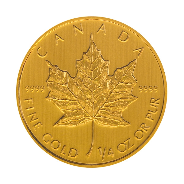 Reverse of Canadian Maple Leaf Gold Coin (Any Year)