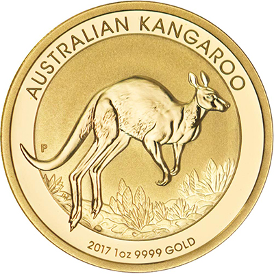Reverse of 2017 Australian Gold Kangaroo