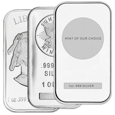 1 oz Silver Bars (Any Mint)
