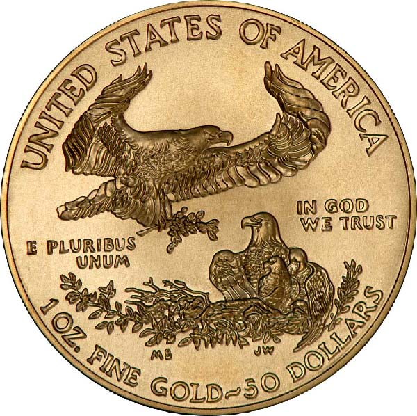 Reverse of American Gold Eagle Coin (Any Year)