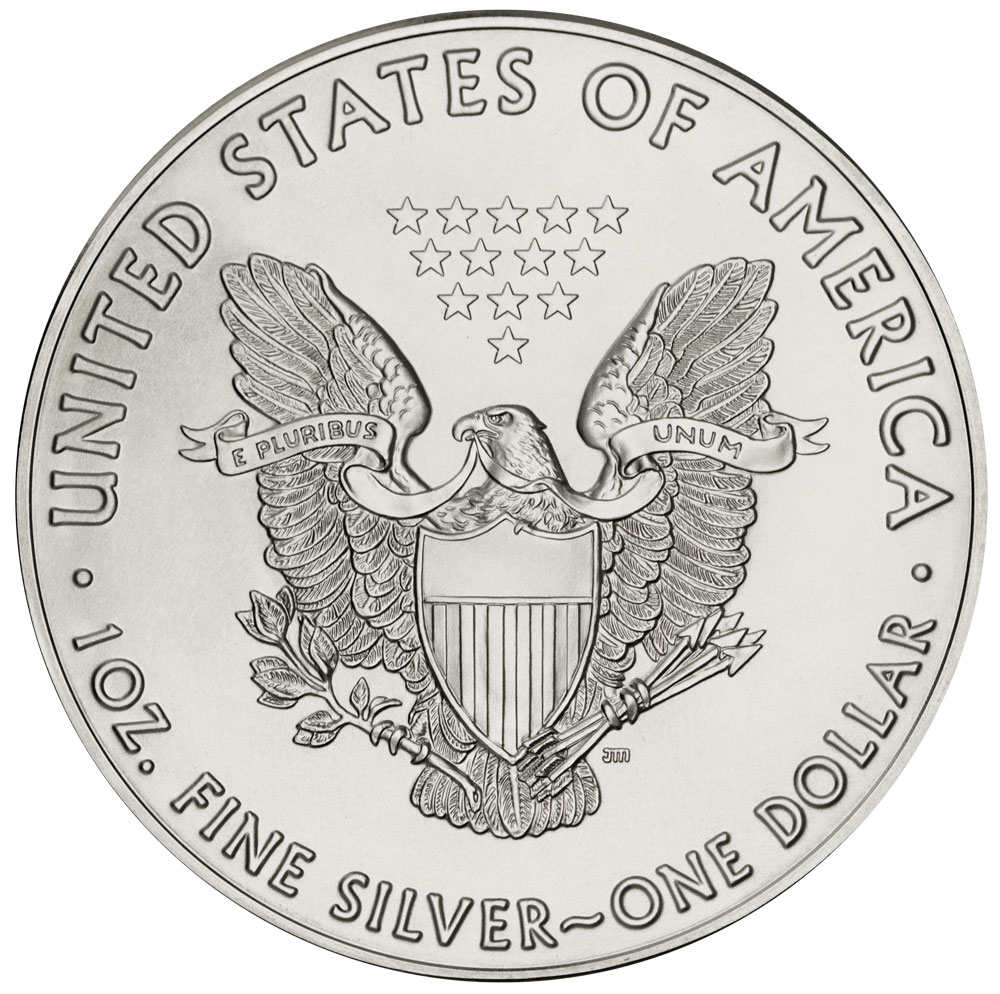 Reverse of 2016 American Silver Eagle Coin