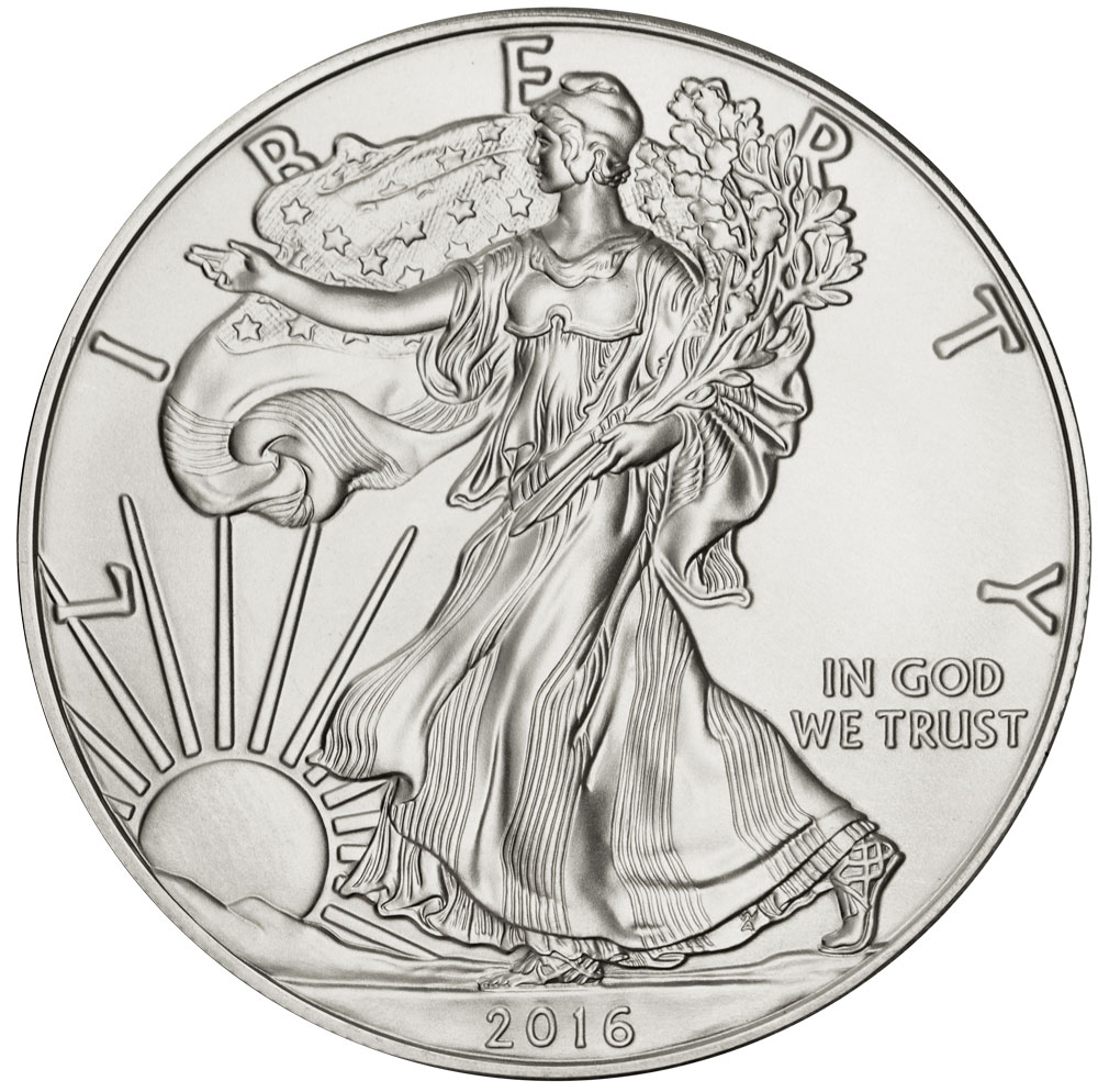 Obverse of 2016 American Silver Eagle