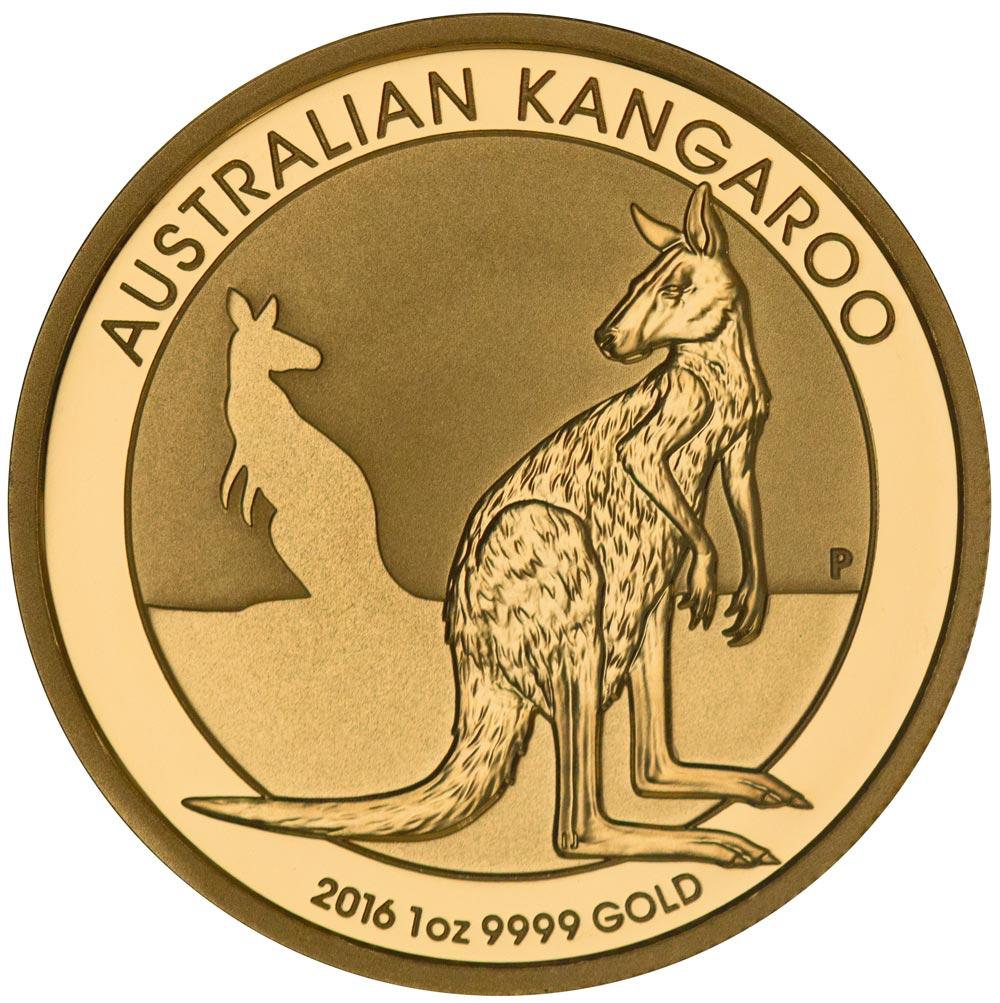 Reverse of 2016 Australian Gold Kangaroo
