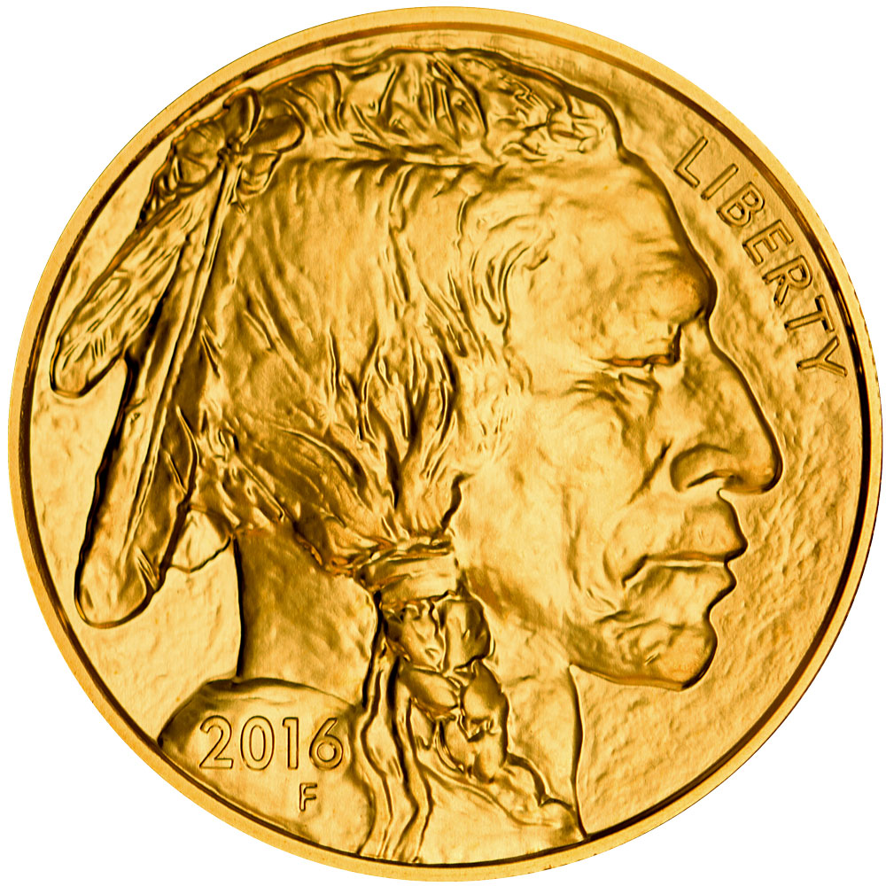 Obverse of 2016 American Buffalo Gold Coin