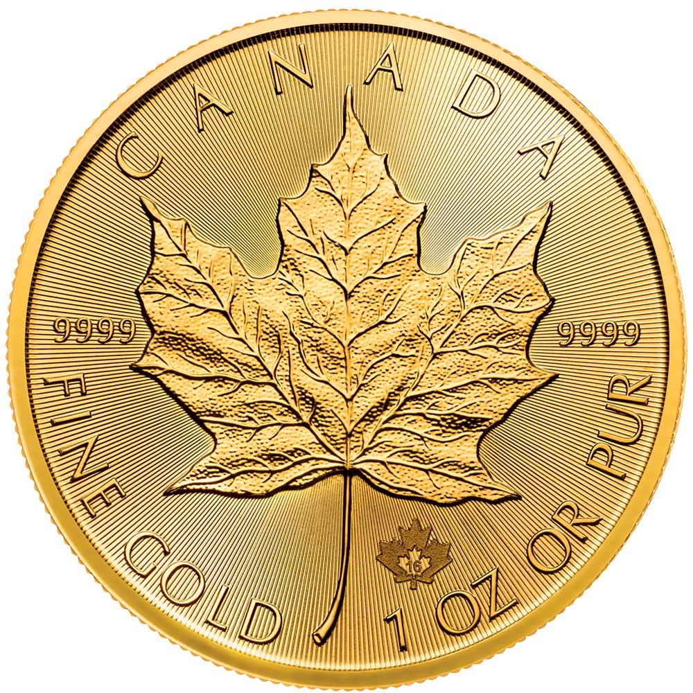 Reverse of 2016 Canadian Maple Leaf Gold Coin
