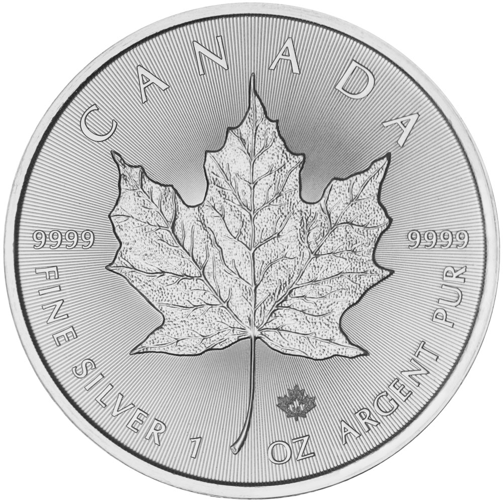 Reverse of 2016 Canadian Maple Leaf Silver Coin