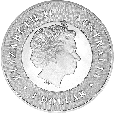 Obverse of 2018 Perth Mint Silver Kangaroo