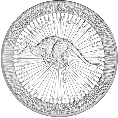 Reverse of 2018 Perth Mint Silver Kangaroo