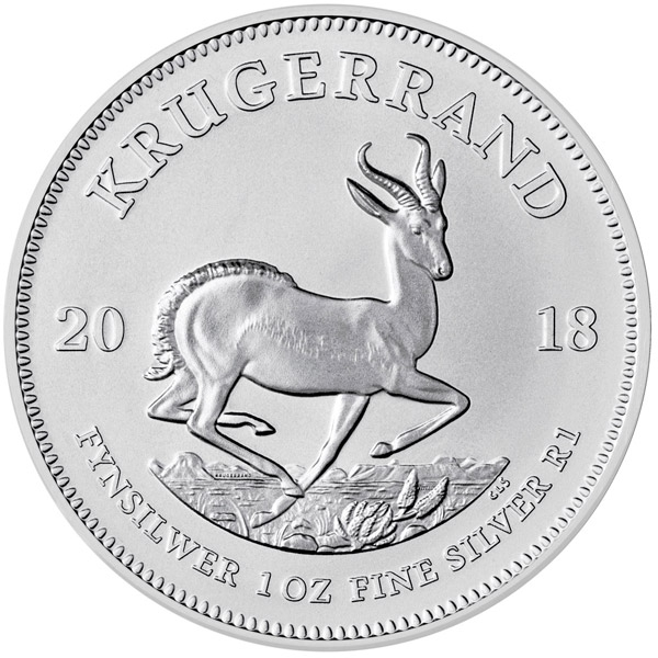 Reverse of 2018 South African Silver Krugerrand Coin