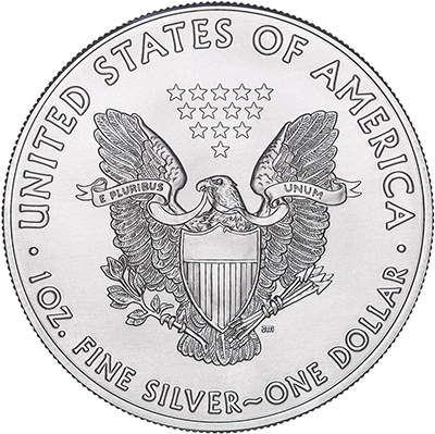 Reverse of 2018 American Silver Eagle Coin
