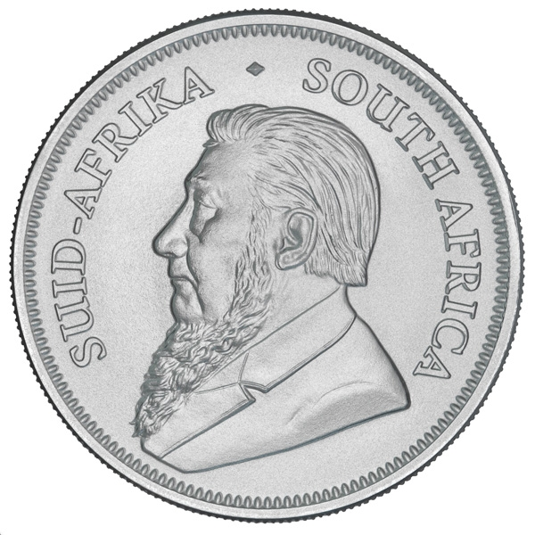 Obverse of 2018 South African Silver Krugerrand Coin