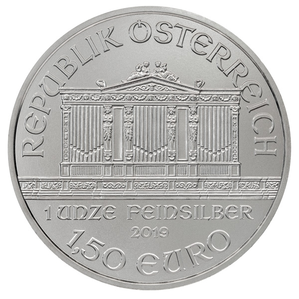 Obverse of 2019 Austrian Silver Philharmonic