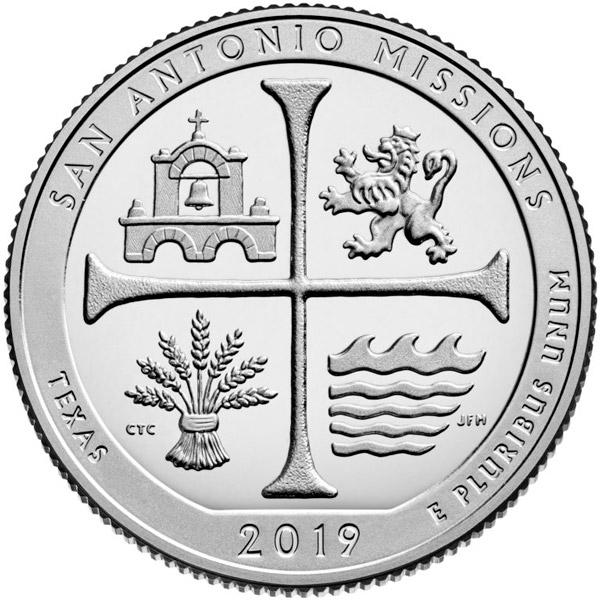 2019 San Antonio Missions Silver Quarter