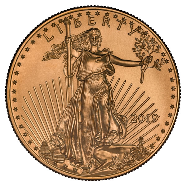 Obverse of 2019 American Gold Eagle Coin