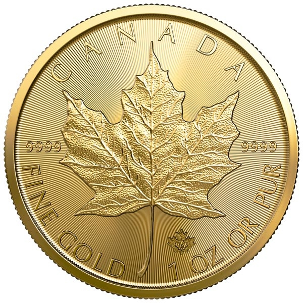Reverse of 2019 Canadian Maple Leaf Gold Coin