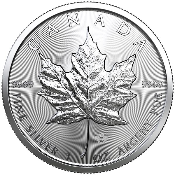 Reverse of 2019 Canadian Silver Maple Leaf