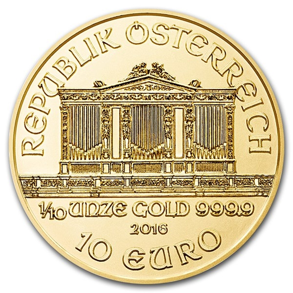 Reverse of Austrian Gold Philharmonics Coin