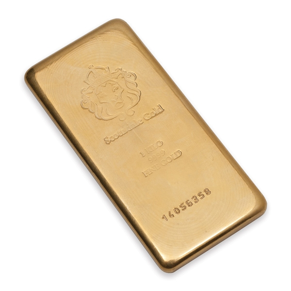 1 Kilo Scottsdale Mint Gold Bars