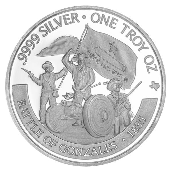 Reverse of 2020 Texas Silver Round