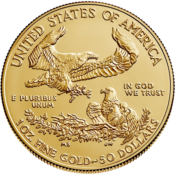 Reverse of 2020 American Gold Eagle Coin