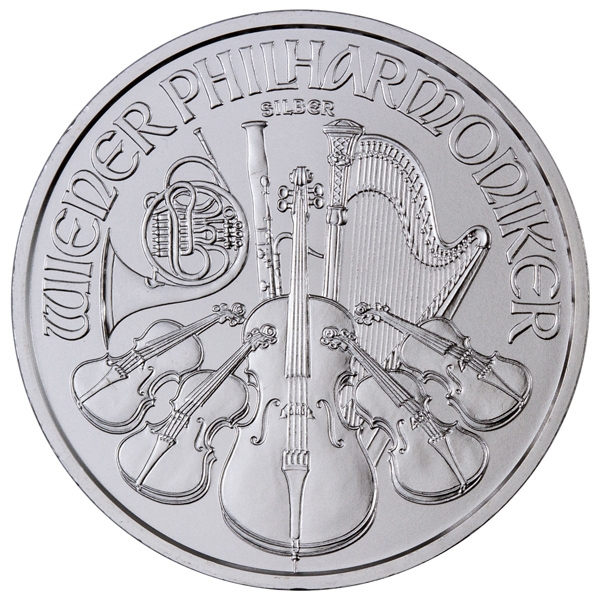 Obverse of 2020 Austrian Silver Philharmonic
