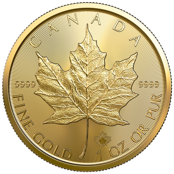 Reverse of 2020 Canadian Maple Leaf Gold Coin