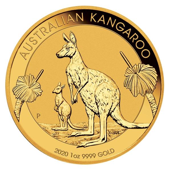Reverse of 2020 Australian Gold Kangaroo