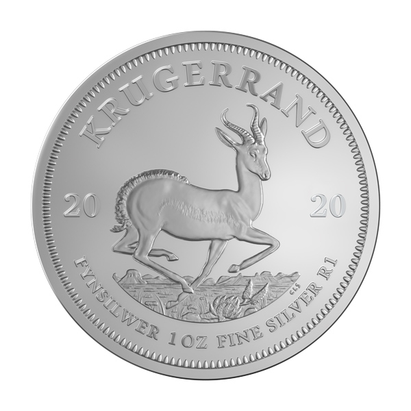 Reverse of 2020 South African Silver Krugerrand Coin
