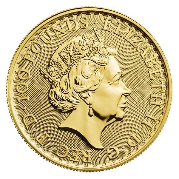 Royal Mint Gold Britannias Obverse