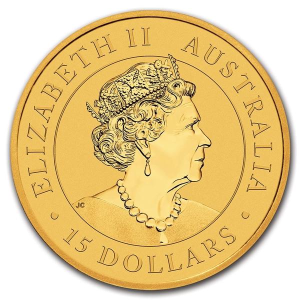 Reverse of 1/10 oz Australian Gold Kookaburra