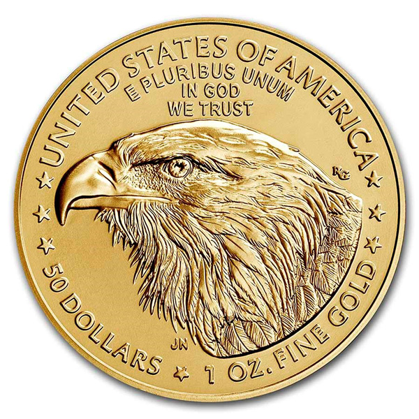 Reverse of 2021 American Gold Eagle Coin