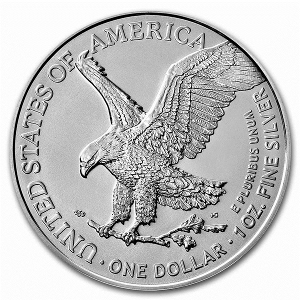 Reverse of 2021 American Silver Eagle Coin - Type 2
