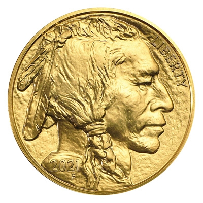 Obverse of 2021 American Buffalo Gold Coin