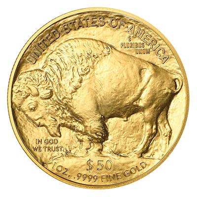Reverse of 2021 American Buffalo Gold Coin