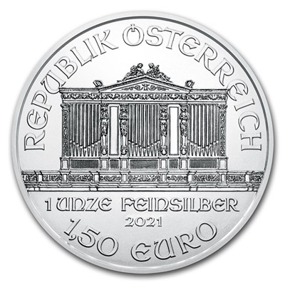 Obverse of 2021 Austrian Silver Philharmonic