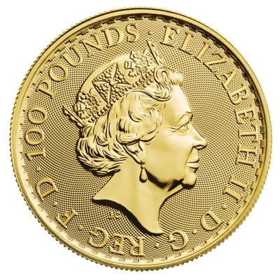 2021 Royal Mint Gold Britannias Obverse
