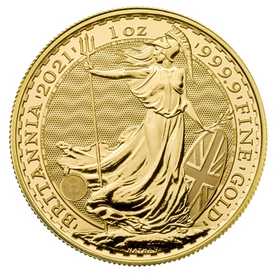 2021 Royal Mint Gold Britannias Reverse