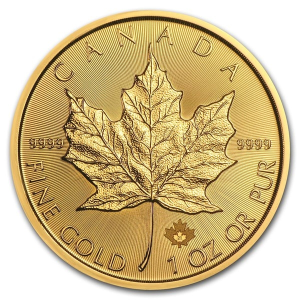 Reverse of 2021 Canadian Maple Leaf Gold Coin