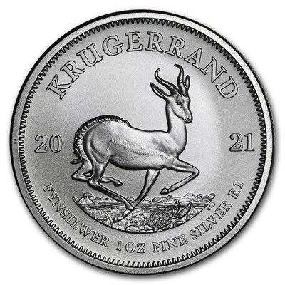 Reverse of 2021 South African Silver Krugerrand Coin
