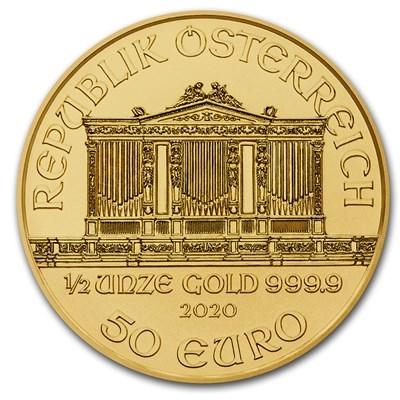 Obverse of Austrian Gold Philharmonics Coin