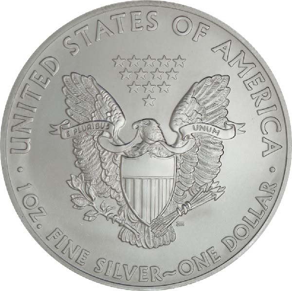 Reverse of American Silver Eagle (Any Year)