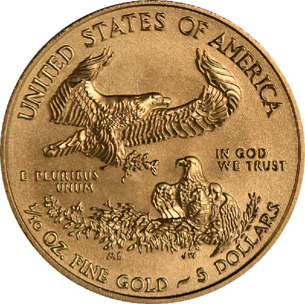 Reverse of 1/10 oz. American Gold Eagle