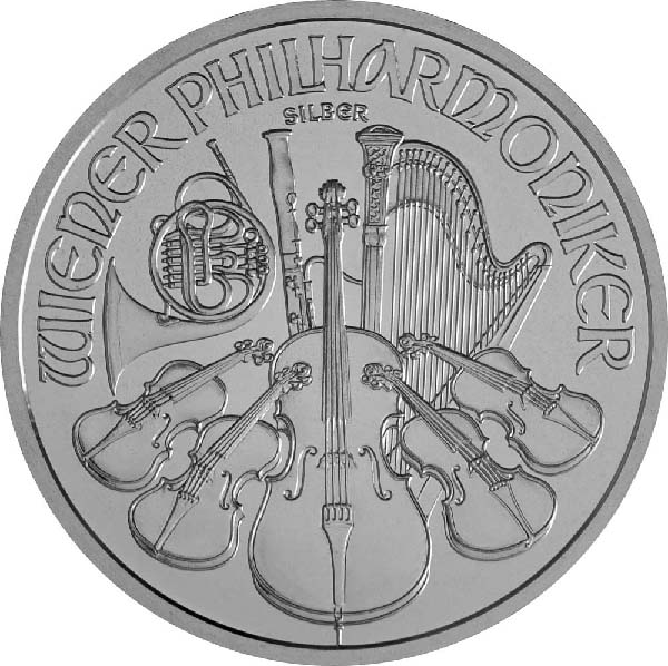 Obverse of Austrian Silver Philharmonic