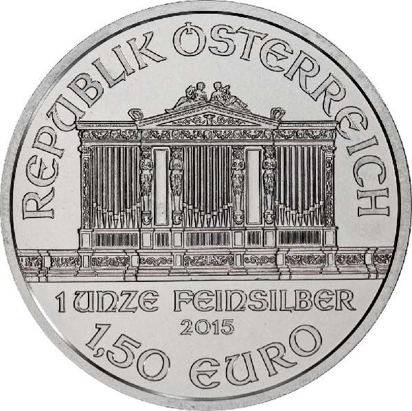 Obverse of 2015 Austrian Silver Phil.