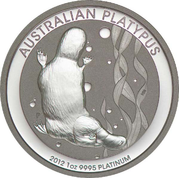Reverse of Australian Platinum Platypus