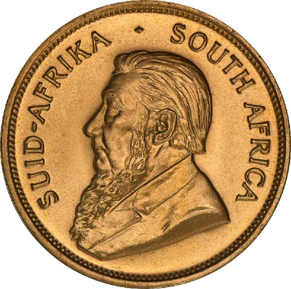 Obverse of South African Gold Krugerrand